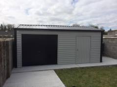 20x13 Steel Garage with roll up door