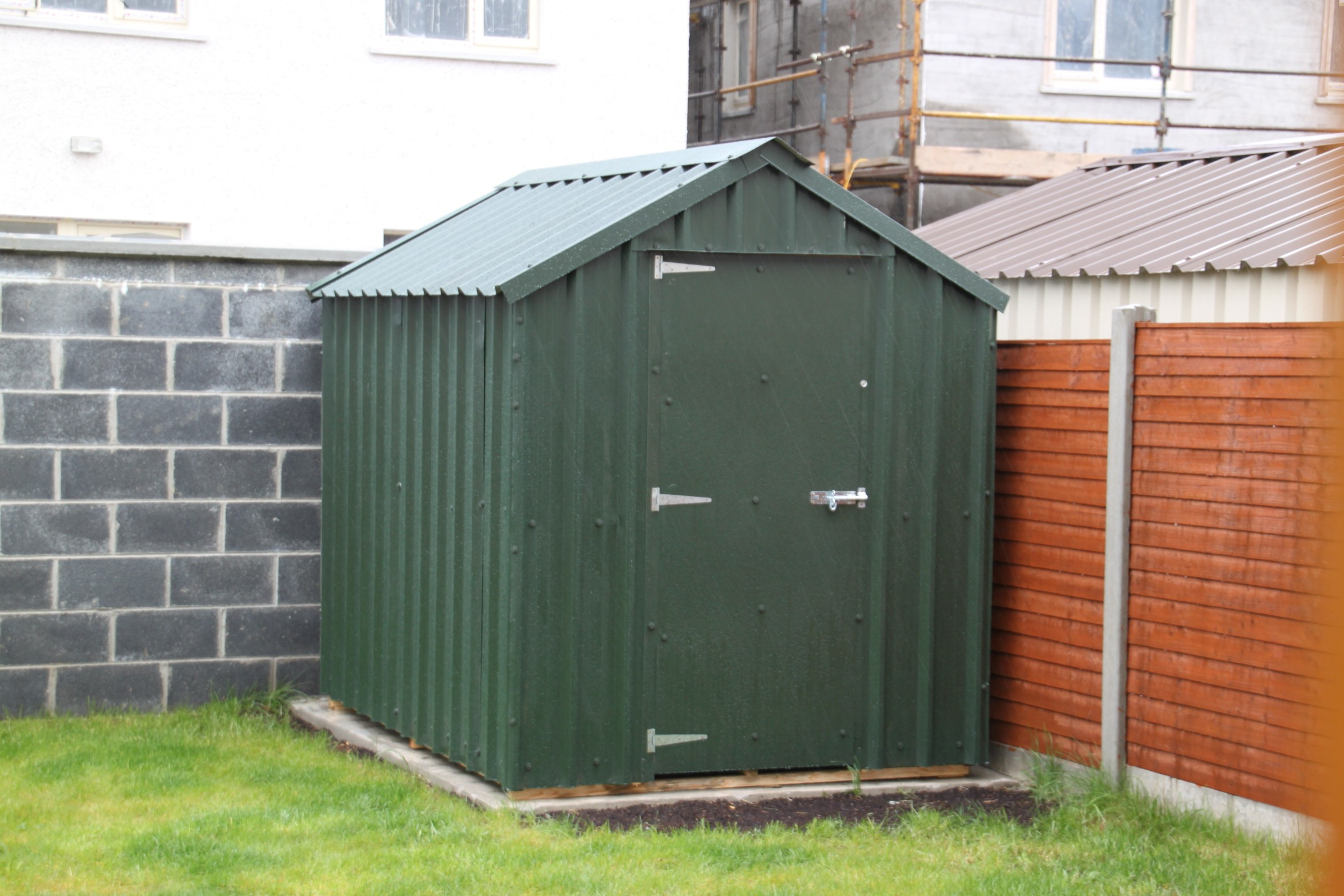 8x6 timber frame steel shed - Garden Sheds 6 X 10