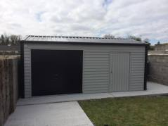 20x13 Steel Garage with roll up door
