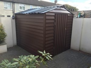8x6 Steel Frame steel shed Brown