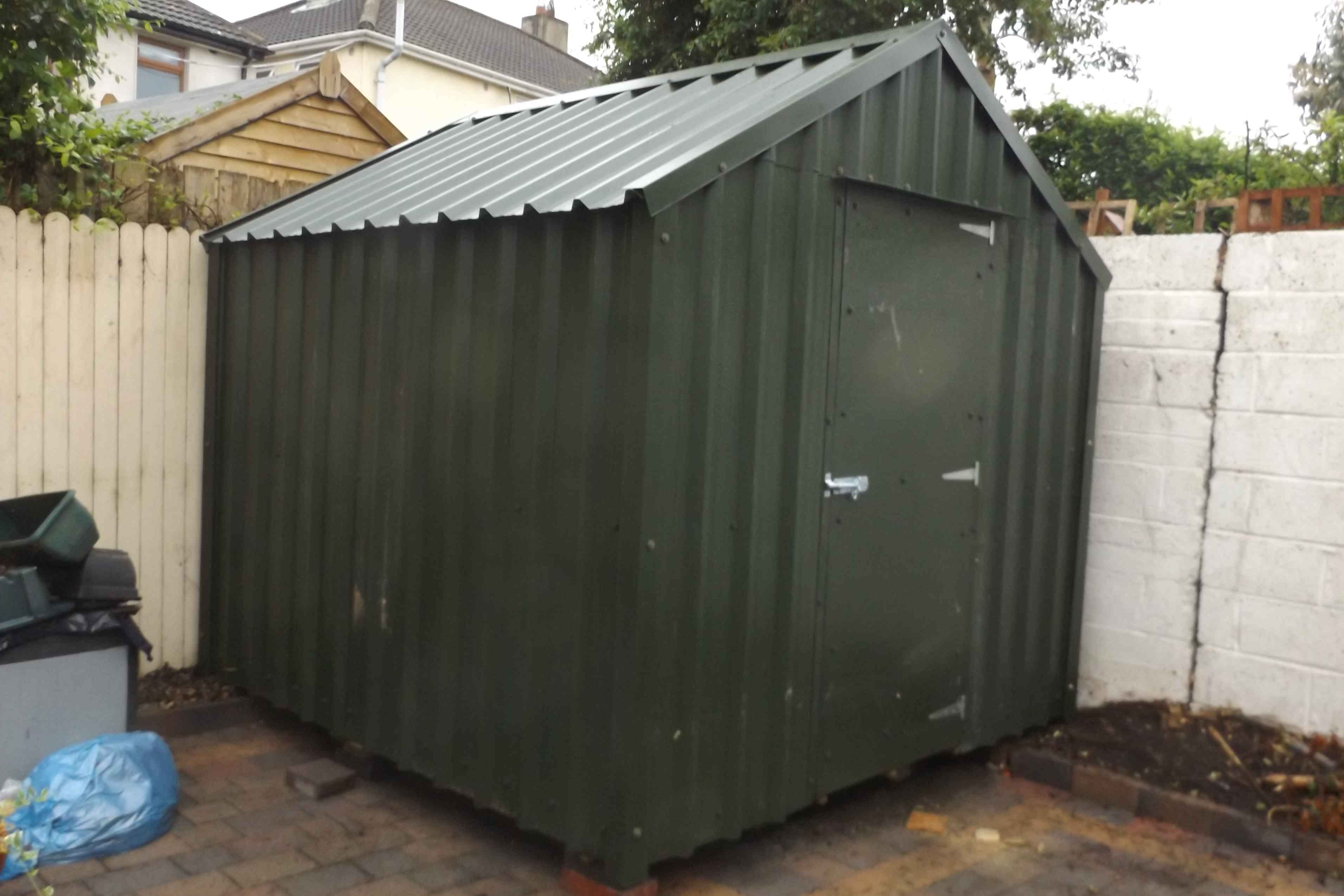 8x8 Steel Green  PVC coated