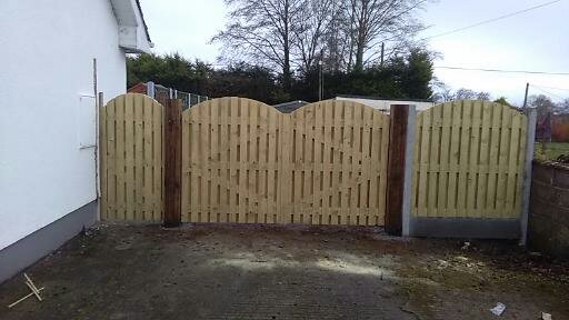 Double Sided Arch Picket Gates.